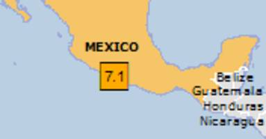 Orange earthquake alert (Magnitude 7.1M, Depth:10km) in Mexico 18/04/2014 14:27 UTC, 542527 people within 100km.