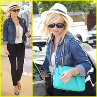 reese witherspoon is a denim delight at oscar de la renta!
