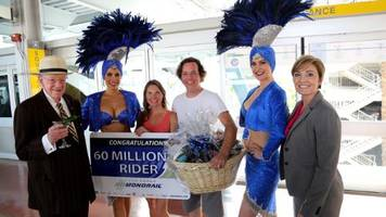 Las Vegas Monorail Carries 60 Millionth Passenger